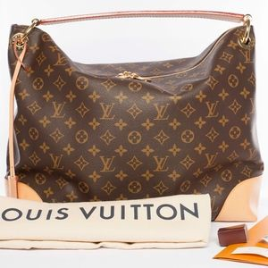 Auth LOUIS VUITTON Berri MM Hobo Shoulder Bag